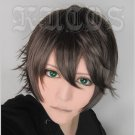 Another one A TALE OF WORST ONE IKKI KUROGANE short brown anime cosplay wig