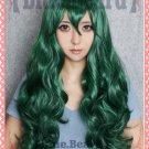 Shimoneta to Iu Gainen ga Sonzai Shinai Taikutsu na Sekai fuwa hyouka 80cm dark green cosplay wig