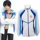 Free Haruka Nanase anime cosplay costume coat sportwear Iwatobi high school uniform