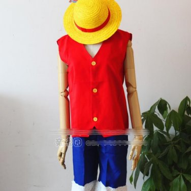 ONE PIECE Monkey D Luffy anime cosplay costume clothes