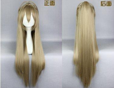 Amagi Brilliant Park Sento Isuzu long 80cm linen anime cosplay full wig