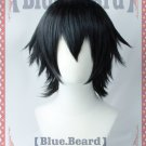 Bungo Stray Dogs Edogawa Ranpo short black anime cosplay wig
