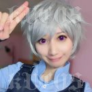 Judy short gray cosplay wig