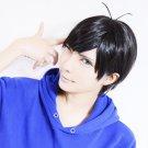 Osomatsu-San Matsuno Karamatsu short black anime cosplay wig