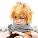 League of Legends Ezreal short golden cosplay wig