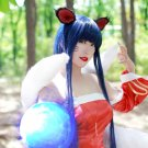 League of Legends Ahri 100cm blue mix cosplay wig