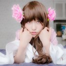 Axis Powers Taiwan 80cm brown curly cosplay wig