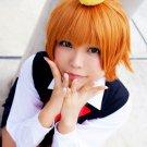 HITMAN REBORN Sasagawa Kyoko short orange cosplay wig