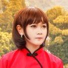 Big Fish & Begonia chun short black cosplay wig