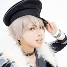 ensemble stars Oogami Koga short silver grey cosplay wig