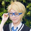 ensemble stars Yuuki Makoto short gold osplay wig
