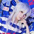 Duel Monsters Bakura Ryo 50cm silver white cosplay wig