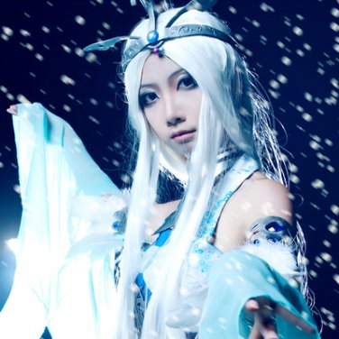The Legend of Qin xuenv long 100cm white cosplay wig