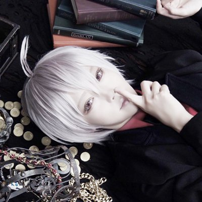 idolish7 Kujyou Ten short silver white cosplay wig
