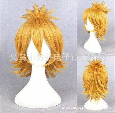 Furari no ken urashimakotethu short orange one ponytail anime cosplay wig