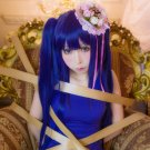 Episode5 End of the Golden Witch Furudo Erika Wendy Marvell blue 100cm clips cosplay wig