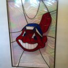 Stained Glass Cleveland Indians Panel