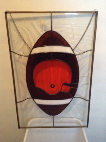 Stained Glass Cleveland  Browns Panel