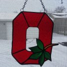 Stained glass Ohio State Logo
