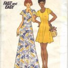 Vintage 1970&#39;s Teen Girls Flared Sleeve Mini Dress Butterick 3578 Sewing Pattern Size 13 - 14