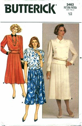 Butterick 3463 Top & Skirt Size 12
