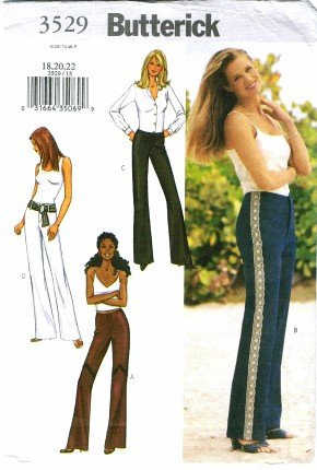 Butterick 3529 Misses Flared Leg Pants Size 18 - 22