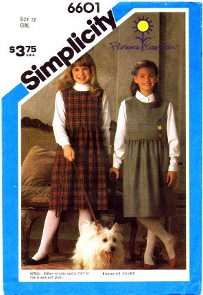 Simplicity 6601 Sewing Pattern Girls Florence Eiseman Jumper Size 12