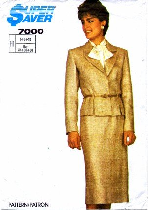Simplicity 7000 Sewing Pattern Misses Skirt Jacket Suit Bust 30 1/2 - 32 1/2