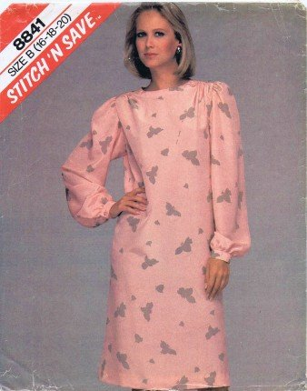 McCall's 8841 Sewing Pattern Misses Pullover Dress Size 16 - 20 - Bust 38 - 42