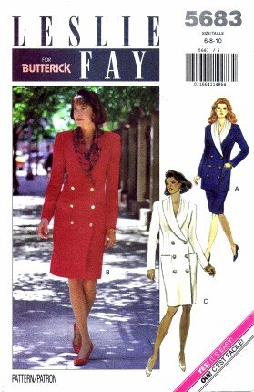 Butterick 5683 Sewing Pattern Misses LESLIE FAY Dress Top Skirt Size 6 - 10 - Bust 30 1/2 - 32 1/2