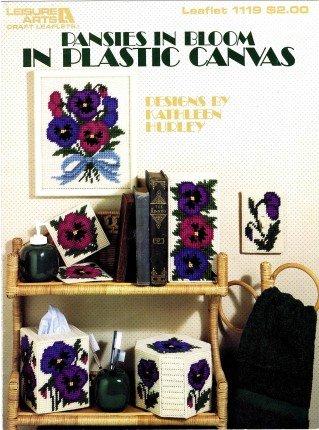 Leisure Arts Pansies in Bloom Plastic Canvas Leaflet
