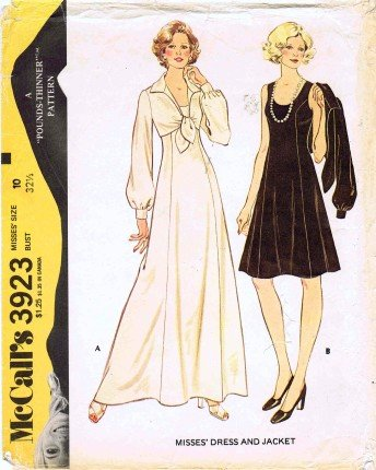 McCall's 3923 Sewing Pattern Misses Pounds Thinner Princess Dress & Jacket Size 10 - Bust 32 1/2