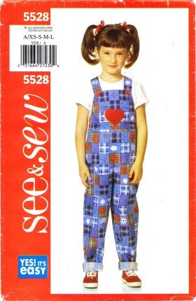 See & Sew 5528 Sewing Pattern Girls Jumpsuit Size 2 - 6X