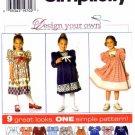 Simplicity 7411 Sewing Pattern Girls Yoked Dress Size 5 - 6X