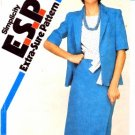 Simplicity 5889 Sewing Pattern Misses Skirt Top Sash Jacket Suit Size 8 - 12 - Bust 31 1/2 - 34