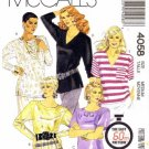 McCall&#39;s 4058 Sewing Pattern Misses Pullover Top Size 14 - 16 - Bust 36 - 38