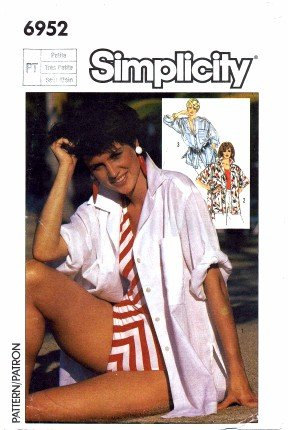 Simplicity 6952 Sewing Pattern Misses Big Shirt Size 6 - 8 - Bust 30 1/2 - 31 1/2