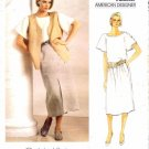 Vogue 1329 Sewing Pattern Calvin Klein Top Vest Skirt Size 8 - Bust 31 1/2