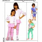 Simplicity 9267 Sewing Pattern Girls Pants with Attached Skirt & Top Size 7 - 10