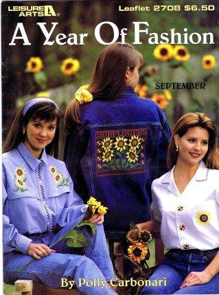 Leisure Arts A Year of Fashion Cross Stitch Book