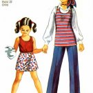 Simplicity 9294 Sewing Pattern Girls Tunic Top Scooter Skirt Pants Size 6