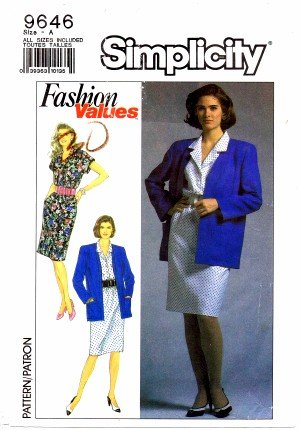 Simplicity 9646 Sewing Pattern Misses Dress & Cardigan Jacket Size 8 - 18 - Bust 31 1/2 - 40