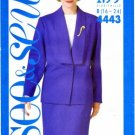 See & Sew 4443 Sewing Pattern Misses Jacket Top Skirt Suit Size 16 - 24 - Bust 38 - 46