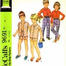 McCall's 9691 Sewing Pattern Girls & Boys Shirt Pants Shorts Size 6X