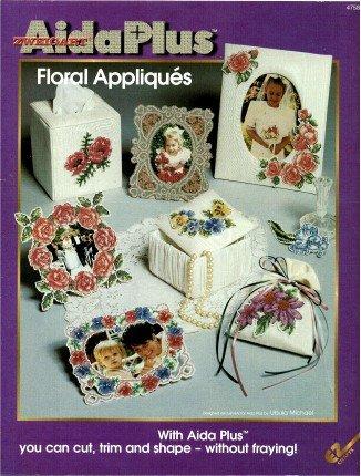 Aida Plus Floral Appliques Cross Stitch Pattern Book