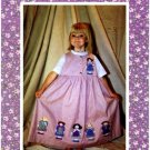 1990's Mine & Yours Pinafore Pals Sewing Pattern Girls Jumper Size 4 - 14