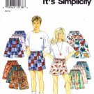 Simplicity 9052 Sewing Pattern Boys & Girls Shorts Size 7 - 14