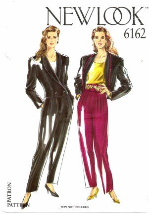 New Look 6162 Sewing Pattern Misses Jacket Pants Suit Size 8 - 18 Bust 31 1/2 - 40