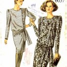 1980's New Look 6057 Sewing Pattern Misses Blouson Dress Size 8 - 18 - Bust 31 1/2 - 40