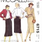 1970's McCall's 6715 Sewing Pattern Evelyn De Jonge Jacket Blouse Skirt Suit Size 12 - Bust 34